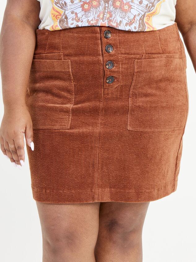 Janna Corduroy Skirt Detail 2 - ARULA