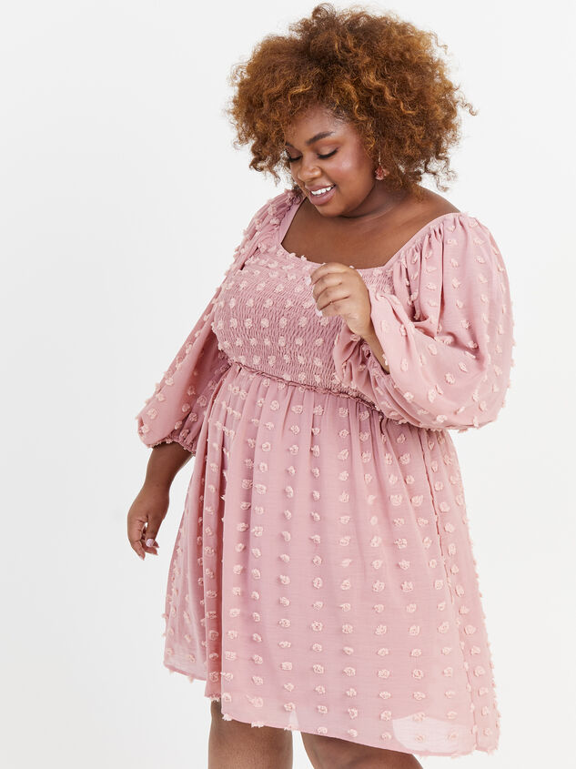 Majorie Clipdot Dress Detail 2 - ARULA formerly A'Beautiful Soul