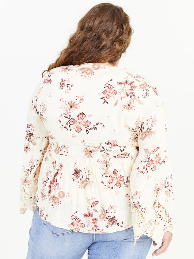 Magdalen Printed Top Detail 3 - ARULA formerly A'Beautiful Soul