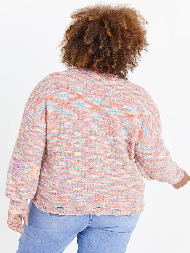 So Cozy Confetti Sweater Detail 3 - ARULA formerly A'Beautiful Soul