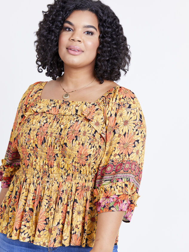 Scarlet Sunflower Top Detail 5 - ARULA formerly A'Beautiful Soul