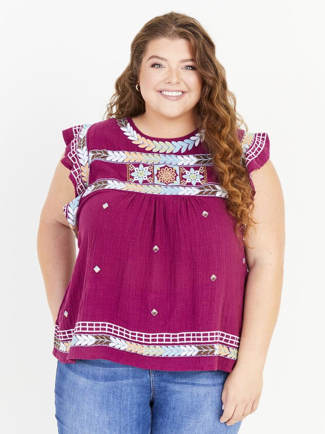 Elsie Embroidered Top - ARULA formerly A'Beautiful Soul