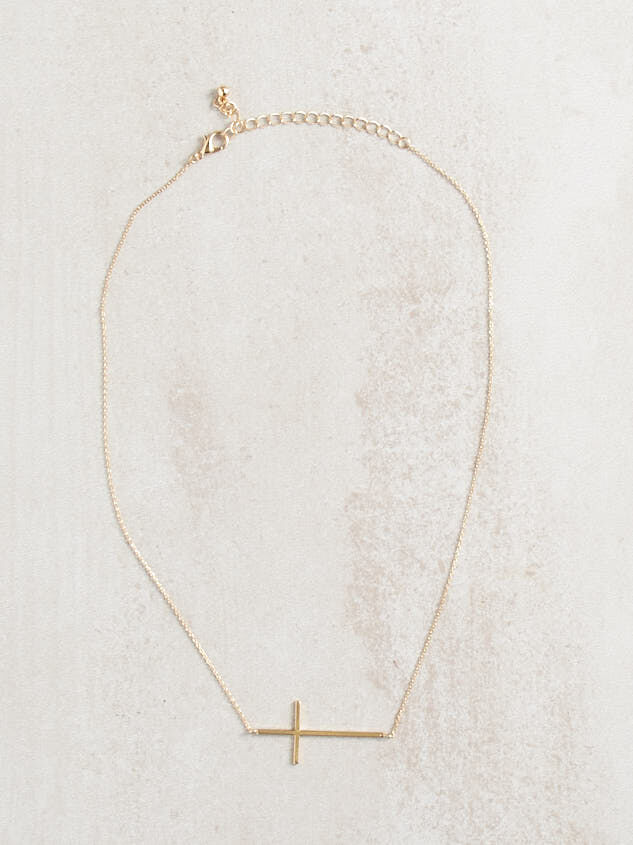 Dainty Cross Necklace Detail 3 - ARULA formerly A'Beautiful Soul