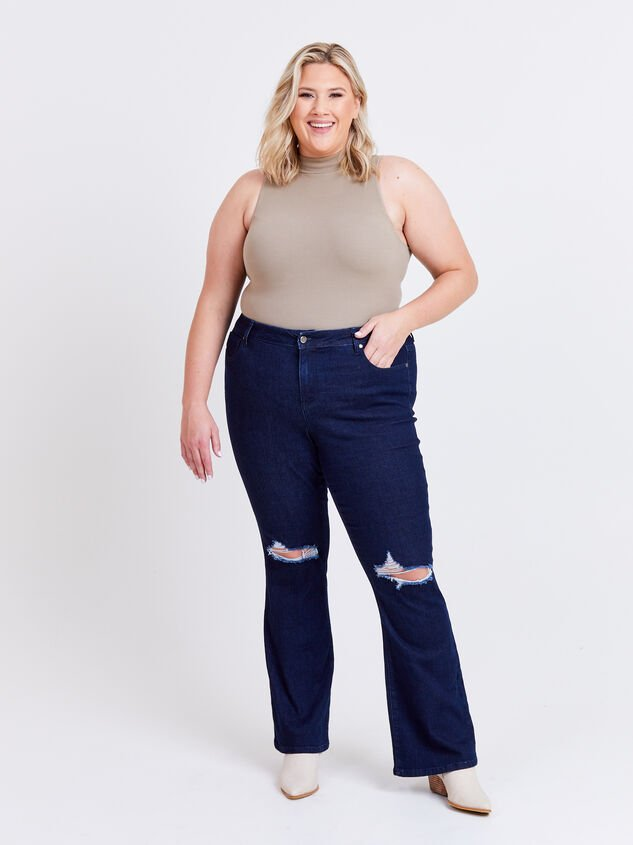 Henley Bootcut Jeans - ARULA