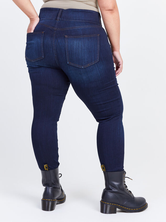 Waist Smoothing Skinny Jeans - Goldie Detail 4 - ARULA formerly A'Beautiful Soul