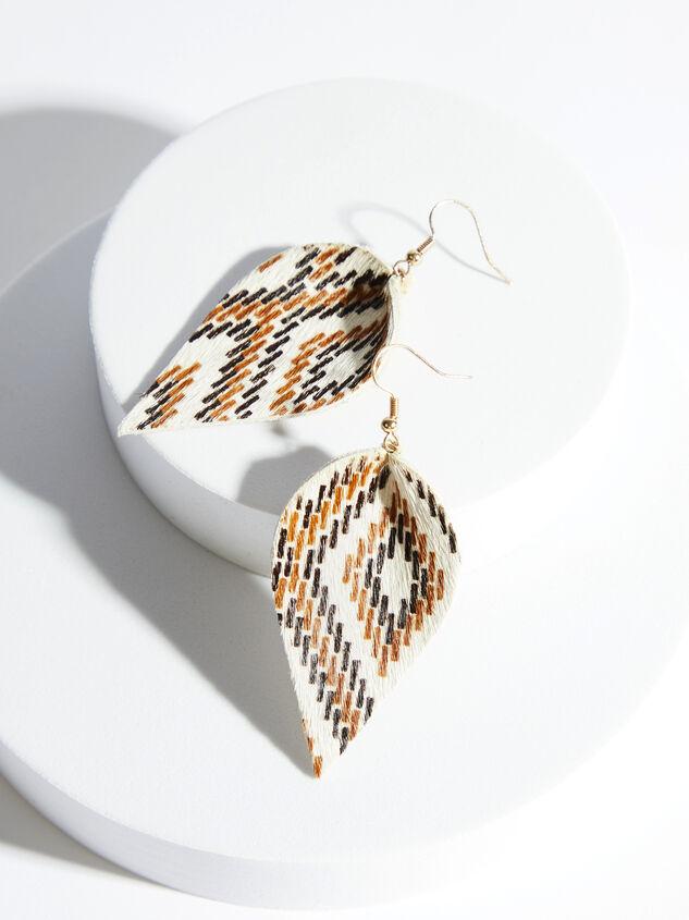 Chaya Leather Earrings Detail 1 - ARULA formerly A'Beautiful Soul