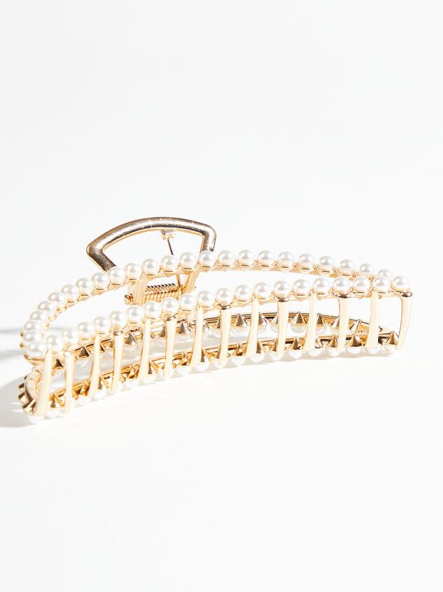 Pearl Claw Clip Detail 2 - ARULA
