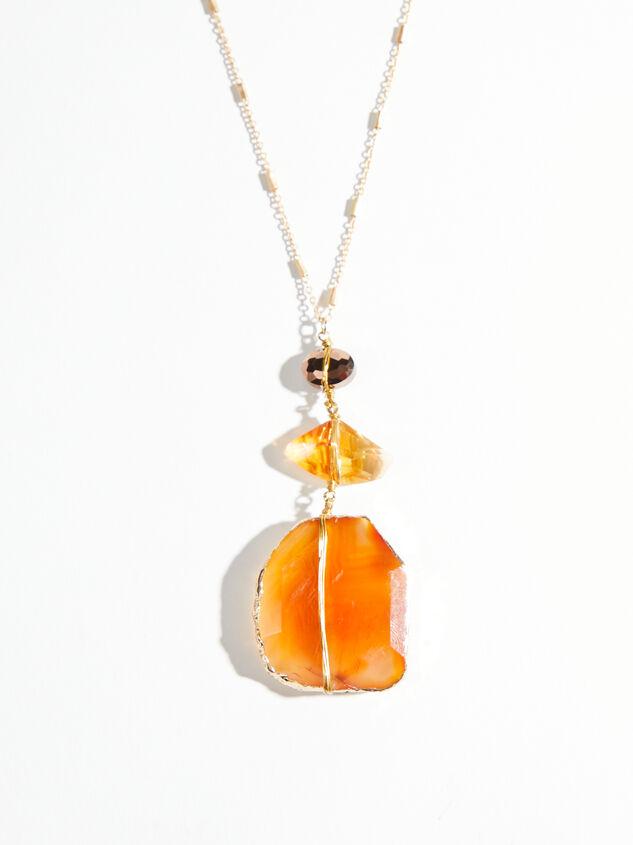 Daphne Stone Necklace Detail 2 - ARULA