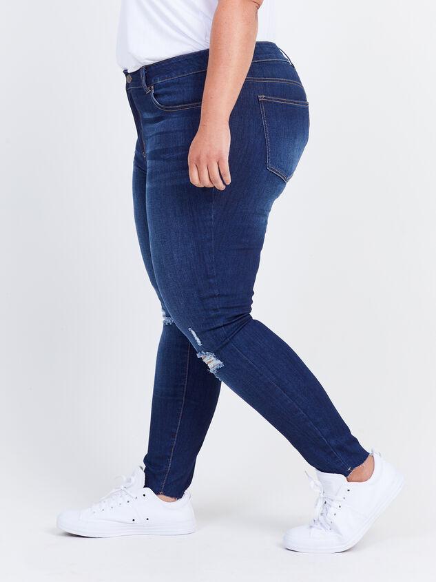 Toni Raw Hem Skinny Jeans Detail 3 - ARULA formerly A'Beautiful Soul