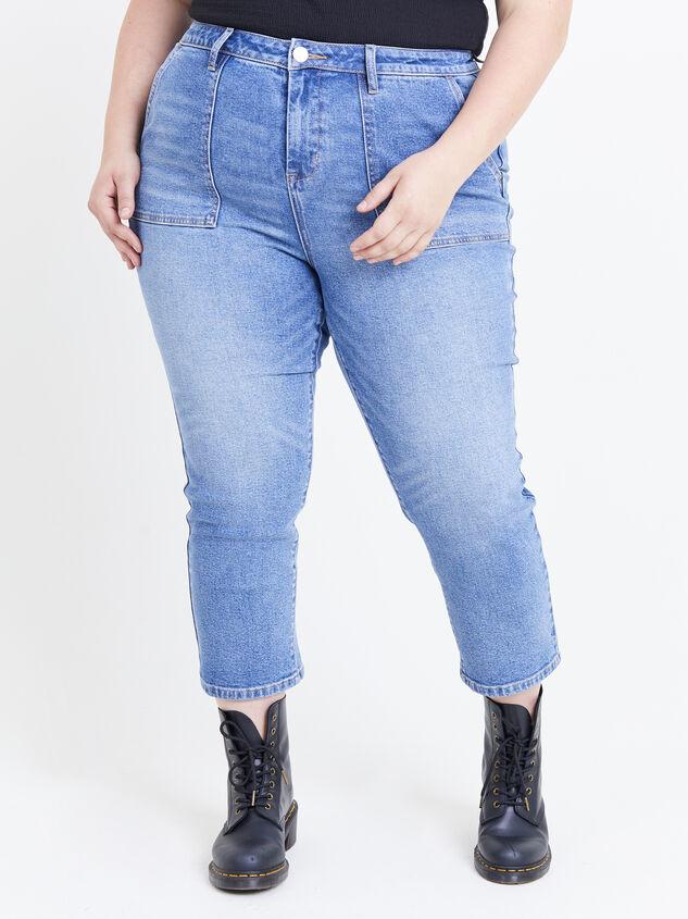Incrediflex Indigo Rain Jeans Detail 2 - ARULA formerly A'Beautiful Soul