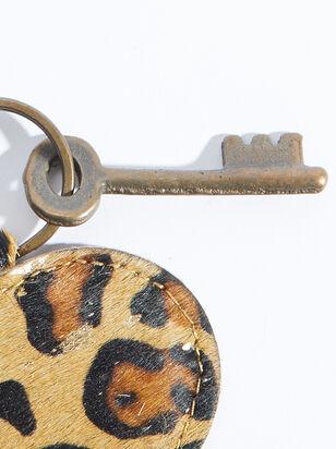 Leopard Fur Heart Keychain - ARULA