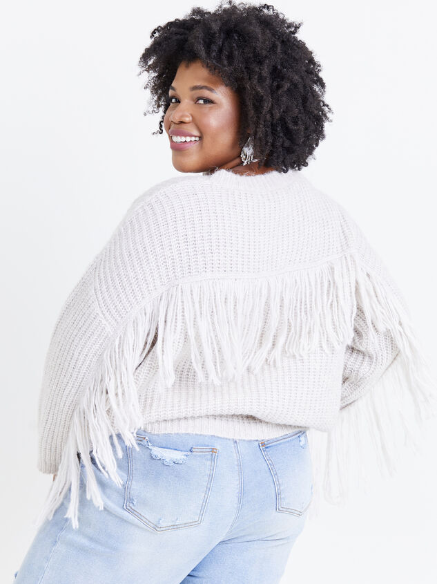 Falling for Fringe Sweater Detail 1 - ARULA formerly A'Beautiful Soul