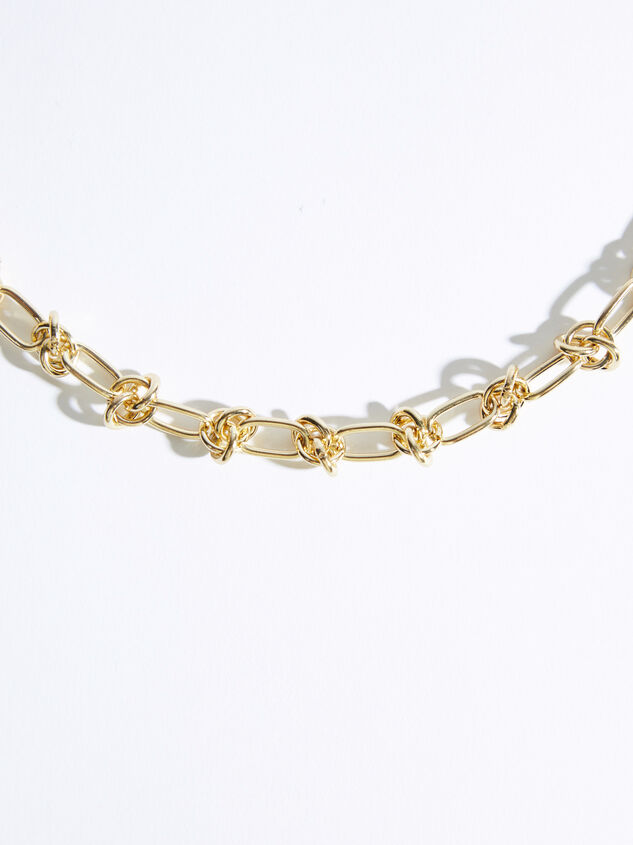 Knotted Chain Link Necklace Detail 3 - ARULA formerly A'Beautiful Soul