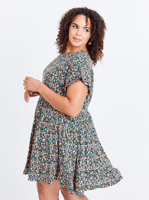 Fifi Dress - Black Floral Detail 2 - ARULA