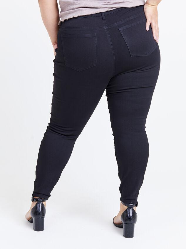 "Incrediflex 29"" Black Skinny Jeans Detail 4 - ARULA formerly A'Beautiful Soul"