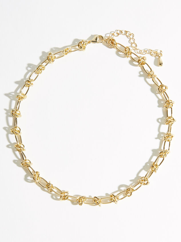 Knotted Chain Link Necklace Detail 1 - ARULA formerly A'Beautiful Soul