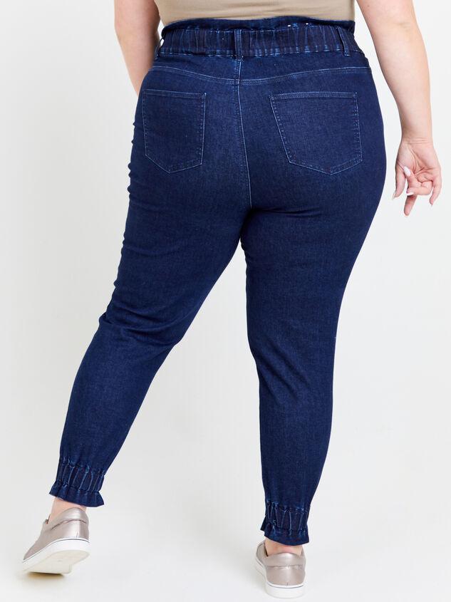 Iyla Elastic Waist Jeans Detail 4 - ARULA