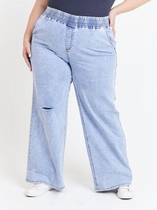 Forever Blue Wide Leg Jeans - ARULA