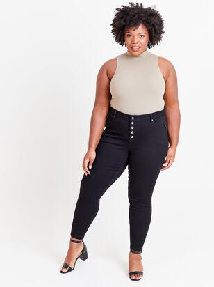 "Incrediflex 29"" Black Skinny Jeans - ARULA"