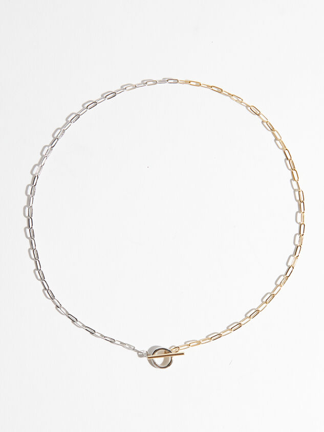 Gold Dipped Mixed Metal Chain Necklace - ARULA