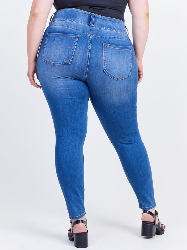 Waist Smoothing Skinny Jeans - Decoy Detail 4 - ARULA formerly A'Beautiful Soul