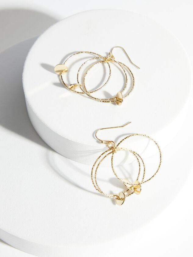 Triple Hoop Dangle Earrings Detail 3 - ARULA formerly A'Beautiful Soul