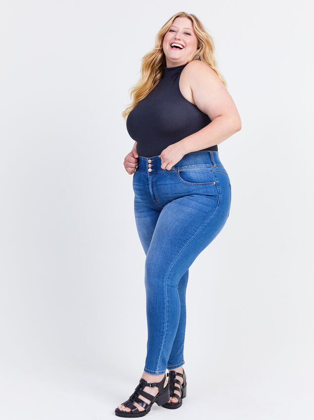 Waist Smoothing Skinny Jeans - Decoy Detail 1 - ARULA formerly A'Beautiful Soul