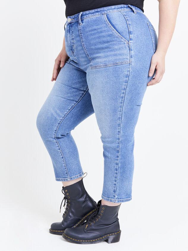 Incrediflex Indigo Rain Jeans Detail 3 - ARULA formerly A'Beautiful Soul