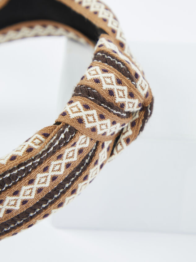 Remington Headband - Brown Detail 3 - ARULA formerly A'Beautiful Soul
