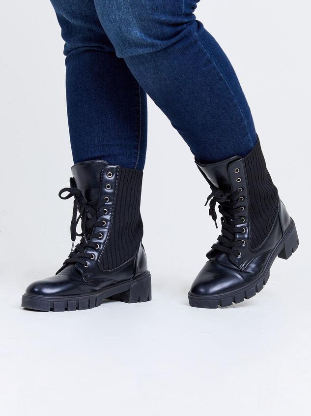 Rumer Wide Width Combat Boots Detail 6 - ARULA