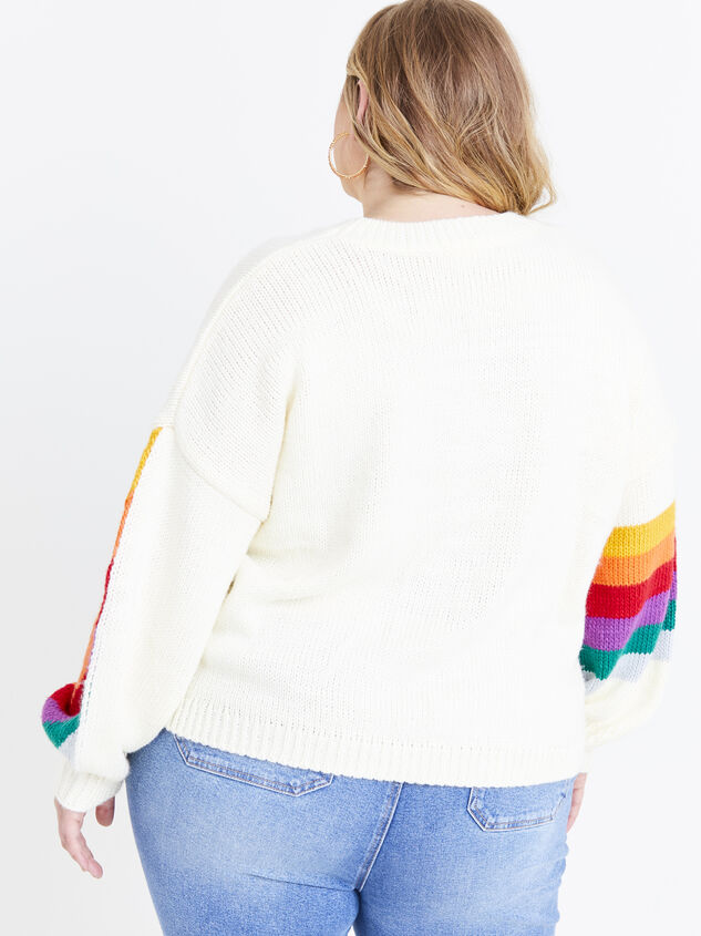 Rainbow Sweater Detail 3 - ARULA formerly A'Beautiful Soul