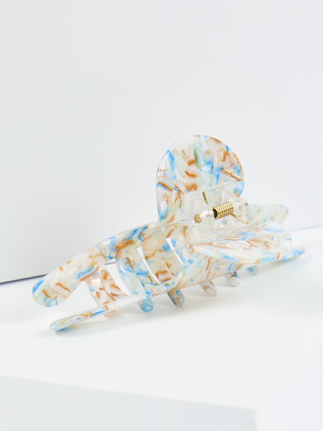 Ivy Claw Clip - White Detail 3 - ARULA