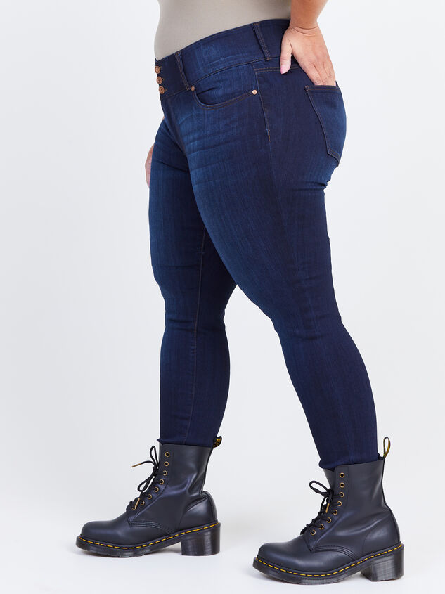 Waist Smoothing Skinny Jeans - Goldie Detail 3 - ARULA formerly A'Beautiful Soul