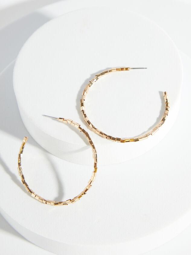 Gold Bead Hoop Earrings - ARULA