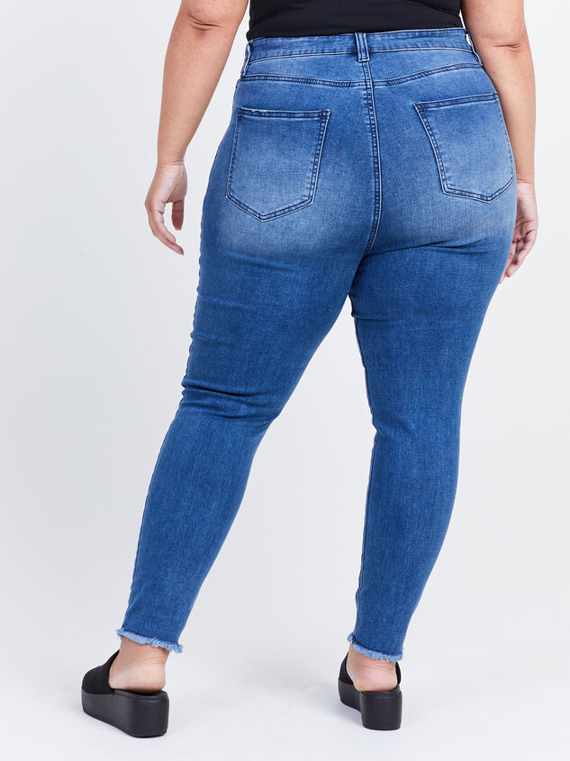 Keaton Raw Hem Skinny Jeans Detail 4 - ARULA formerly A'Beautiful Soul