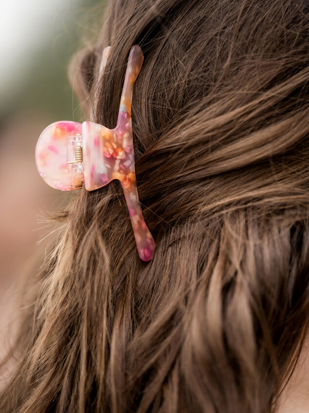 Ivy Claw Clip - Pink Detail 4 - ARULA formerly A'Beautiful Soul