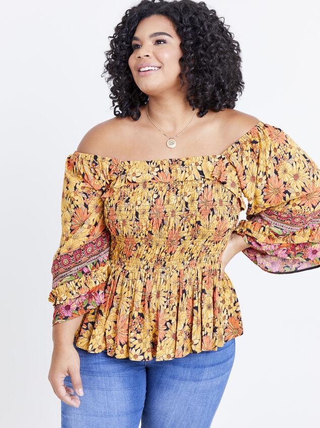 Scarlet Sunflower Top Detail 6 - ARULA formerly A'Beautiful Soul