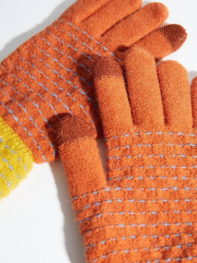Pop Stitch Gloves Detail 2 - ARULA