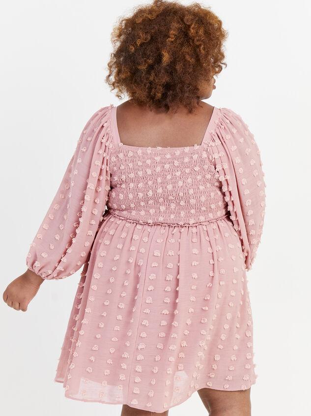 Majorie Clipdot Dress Detail 3 - ARULA formerly A'Beautiful Soul