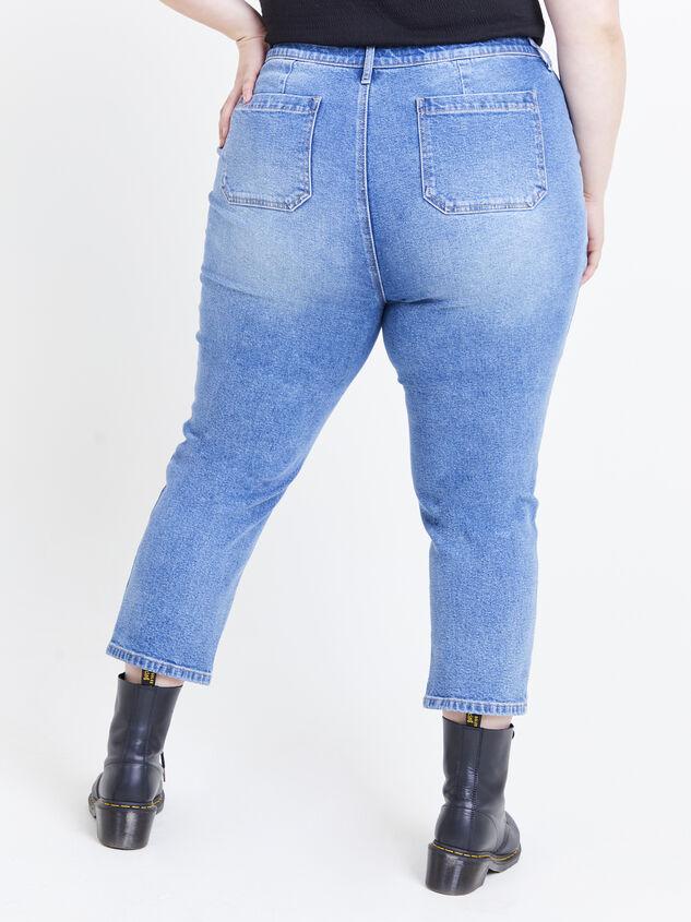Incrediflex Indigo Rain Jeans Detail 4 - ARULA formerly A'Beautiful Soul
