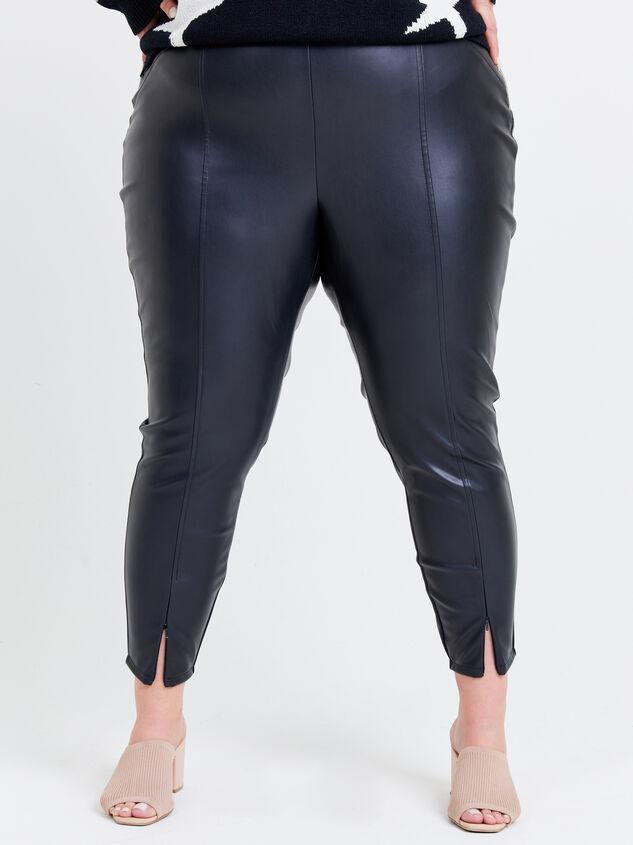 Indre Leather Leggings Detail 2 - ARULA