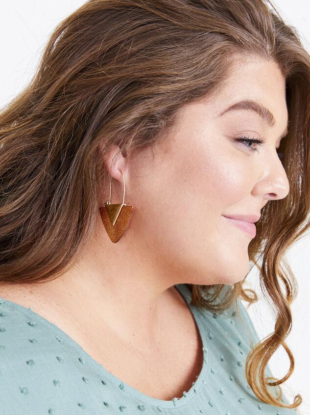 Wood Arrow Earrings - Brown Detail 2 - ARULA formerly A'Beautiful Soul