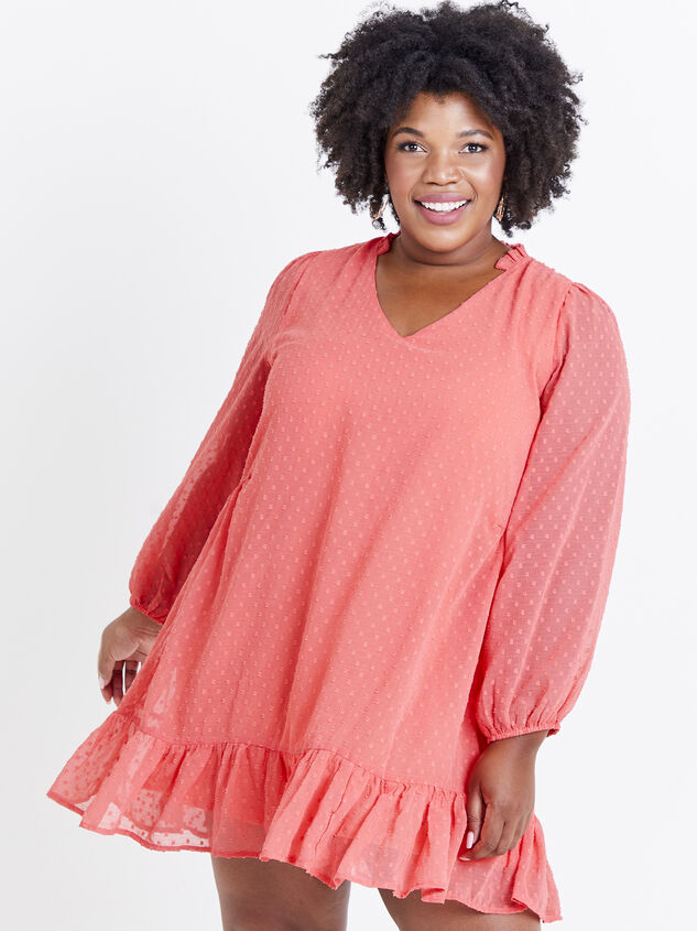 Dusty Dress - Coral Detail 1 - ARULA formerly A'Beautiful Soul