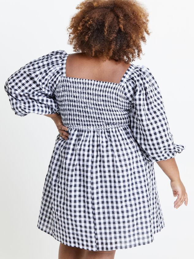 Majorie Gingham Dress Detail 3 - ARULA