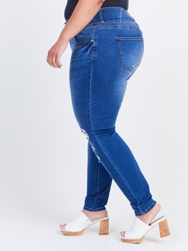 Waist Smoothing Skinny Jeans - Monaco Detail 3 - ARULA formerly A'Beautiful Soul