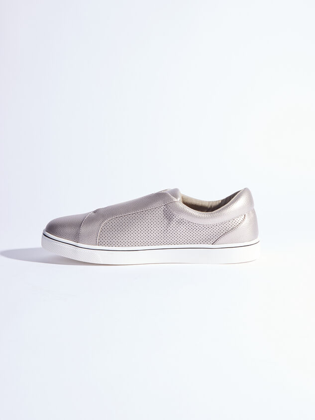 Rery Wide Width Sneakers - Gunmetal Detail 4 - ARULA