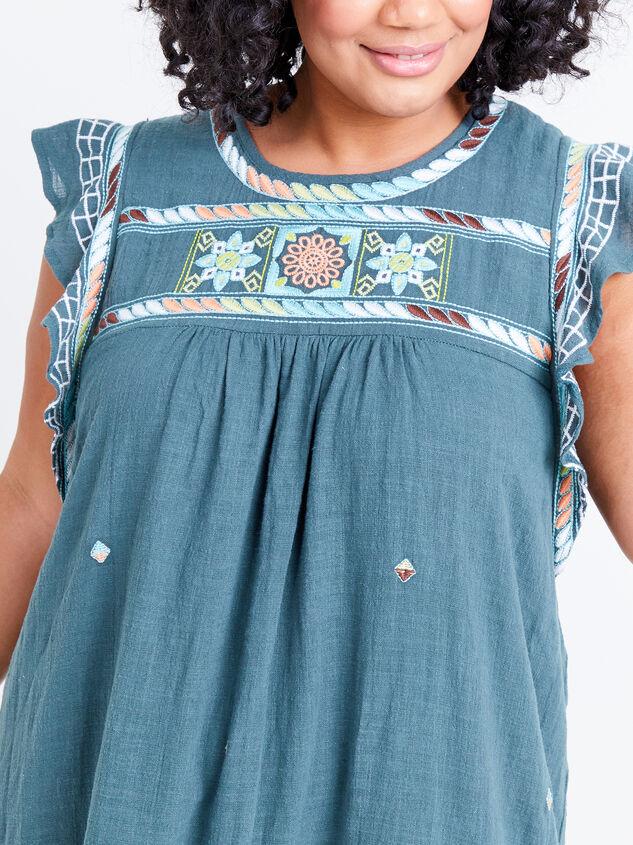 Elsie Embroidered Dress Detail 4 - ARULA