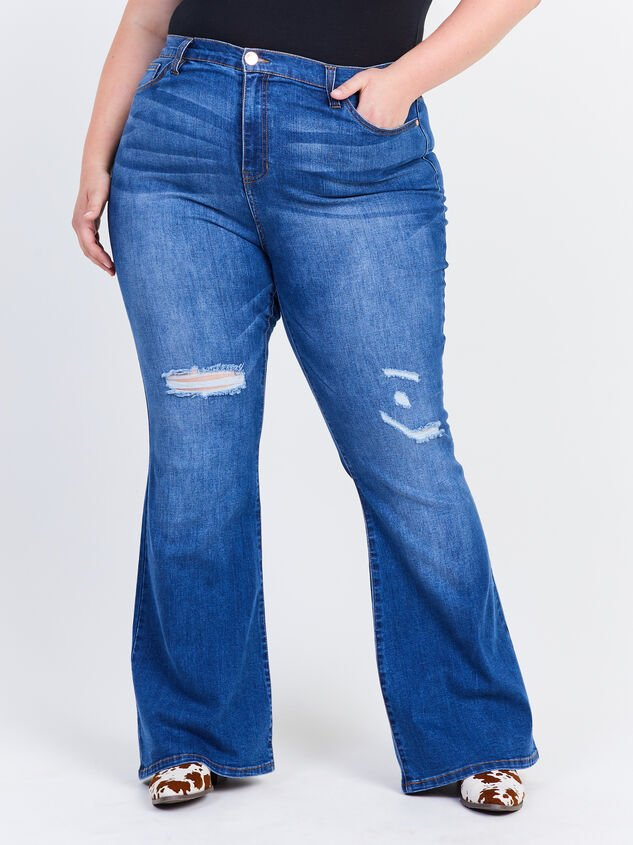 Grey Hound Flare Jeans Detail 2 - ARULA formerly A'Beautiful Soul