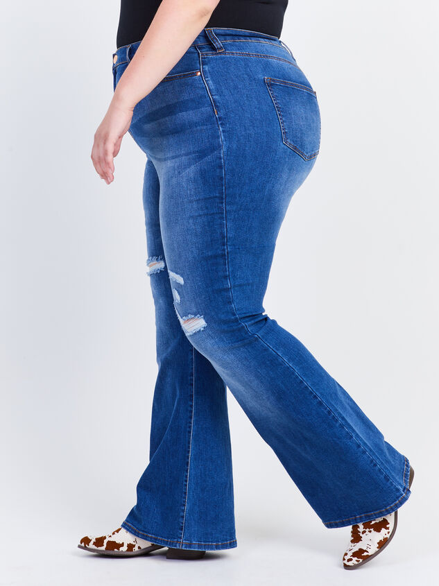 Grey Hound Flare Jeans Detail 3 - ARULA formerly A'Beautiful Soul