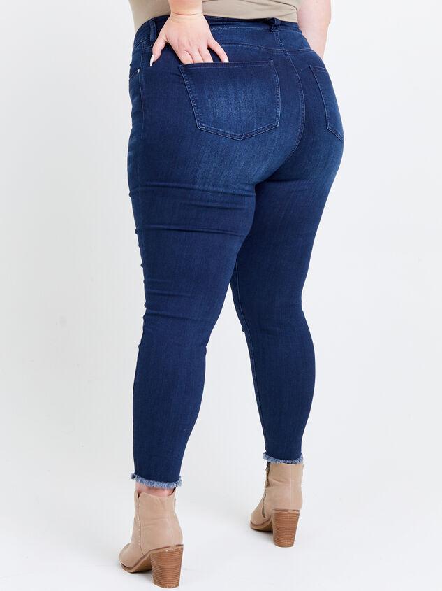 Resistance Raw Hem Skinny Jeans Detail 4 - ARULA formerly A'Beautiful Soul